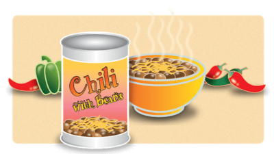 Canned Chili with Beans