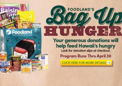 Foodland's Bag Up Hunger
