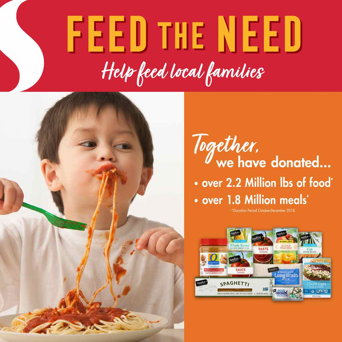 Safeway's Feed the Need Food Drive